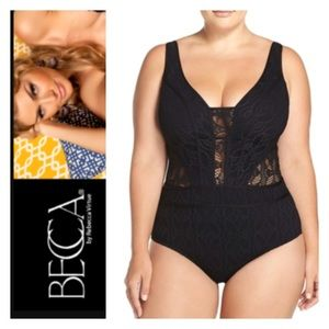 BECCA Other - (Sizes 0X,1X,2X). Becca  'Show & Tell' Swimsuit