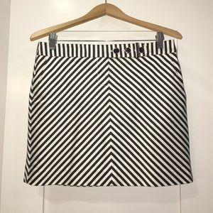 J. Crew size 4 striped mini skirt with pockets