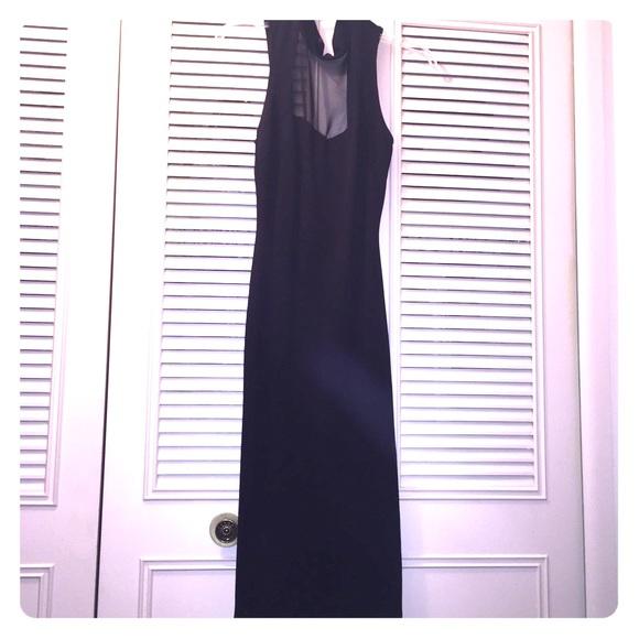 5e18337ab62 Long elegant classy black dress. Boutique. great glam