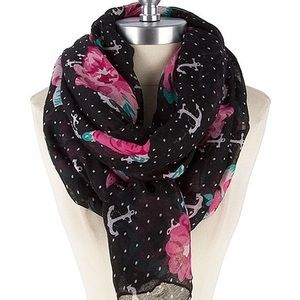 Accessories - Anchor floral Scarf