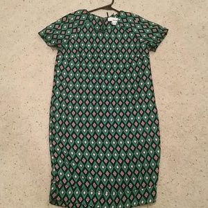 Sans Souci Dresses & Skirts - XS Green geometric print dress