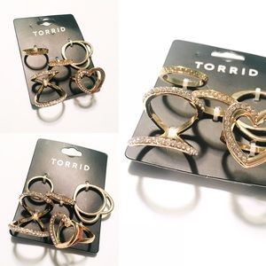 Gold Heart Muti Ring Set