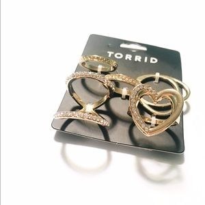 torrid Jewelry - Gold Heart Muti Ring Set