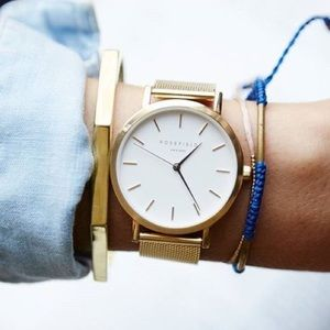Rosefield Gold Metal Band Watch