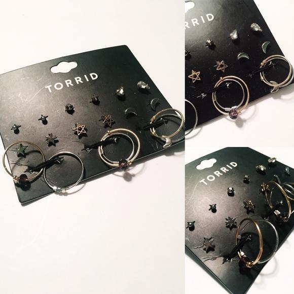 torrid Jewelry - Multi Cosmic Stud Hoop Set