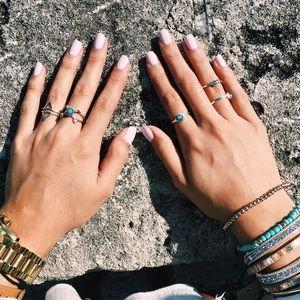 The Wanderlust Bazaar Jewelry - •Moon Child Ring Set•