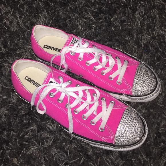 bc9acc0e6c07 Converse Shoes - Bedazzled Pink Converse