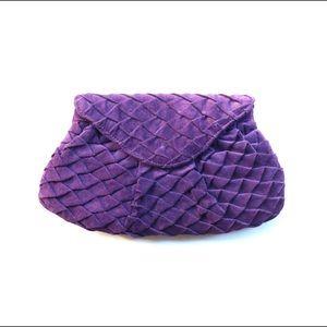 Lauren Merkin Handbags - Lauren Merkin purple pleated clutch