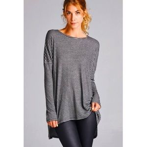 Tops - Striped Dolman Top