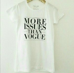 T&J Designs Tops - LAST ONE! More Issues Than Vogue Designer Tee