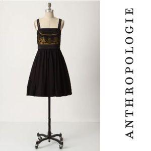 Anthro Floreat Cloaked Vista dress