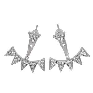 Stella & Dot Jewelry - 💎Silver Gold💎 Sexy Crystal Spike Ear Jacket Stud