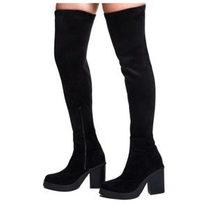 Miista Shoes - Miista Suede Thigh High Boots