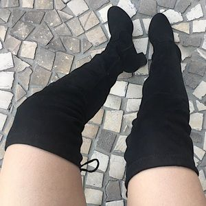 Shoes - Thigh High Sock Black Boots