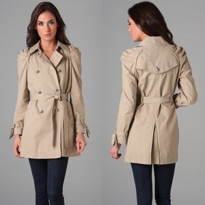 Juicy Couture Jackets & Blazers - Juicy Couture Ruffle Twill Trench Coat