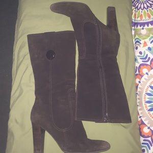 Franco sarto suede knee high boots