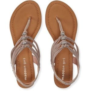 Madden Girl Shoes - Madden girl nude rhinestone sparkly thong sandals