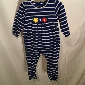 Florence Eiseman Other - Royal blue baby girl romper with flower details