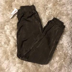 Sans Souci Pants - Sans Souci olive silky dress pants