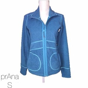 Prana Jackets & Blazers - prAna Turquoise Blue Quilted Zip Up Sweater S