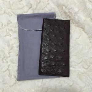Lucchese Other - NWT- genuine ostrich skin wallet