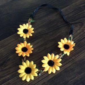 10 for $20 SALE !! Sunflower Boho Stretch Headband