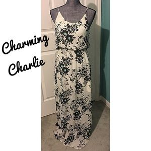 Charming Charlie Dresses - Maxi Dress Floral with Mini Skirt underneath