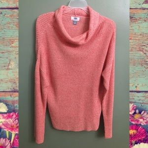 NWT Old Navy Cowl Neck Pink Sweater, L