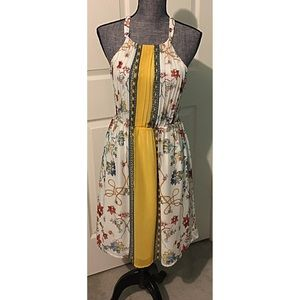 Floral Dress by Renn sz Small sleeveless Flowing