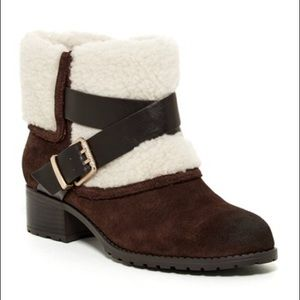 Charles David Shoes - Cozy Charles David Suede Jen Boot w/faux Shearling