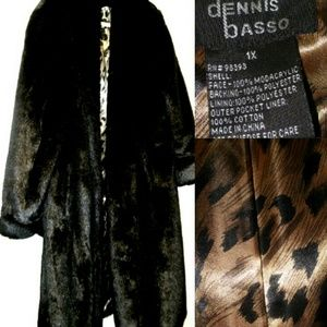 Dennis Basso  Jackets & Blazers - ⏰FLASH SALE 💜HP💜 BLACK SABLE LONG FAUX MINK