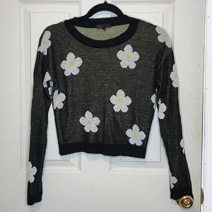 EUC Daisy Crop Sweater