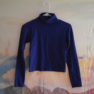 American Apparel Tops - American Apparel Cropped Turtleneck Shirt