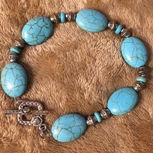 New Turquoise and Antique Silver Bracelet