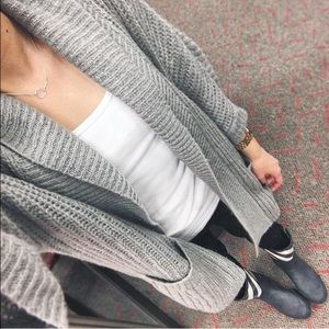 Valette Sweaters - Open front grey cardigan