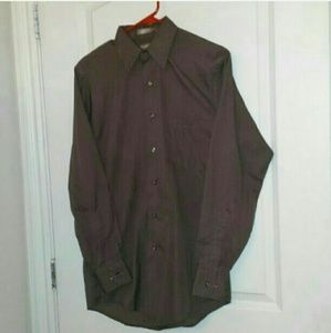 "Van Heusen Other - OFFERS! Mens Sm 32/33 14 1/2"" Brown Dress Shirt"