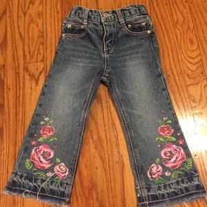 Cute Frayed Toddler Blue Jeans Size 2T