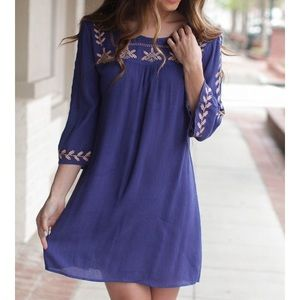 Dresses & Skirts - Blue & pink tunic dress!