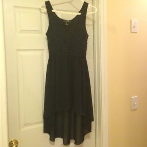 FOREVER 21 Navy Lace Hi-Low Dress