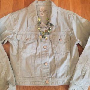 GAP dusty light blue jean jacket