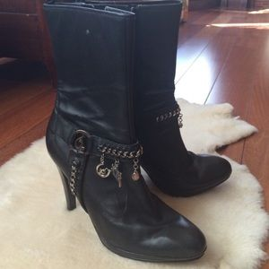 Baby Phat Shoes - BABY PHAT Black leather biker boots