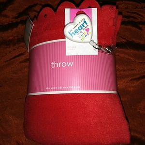 Other - Heart throw with Id Badge Holder