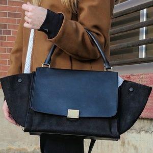 Authentic Celine Black Trapeze Bag