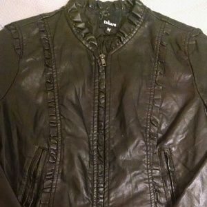 Takara Jackets & Blazers - Takara Black Faux Leather Jacket