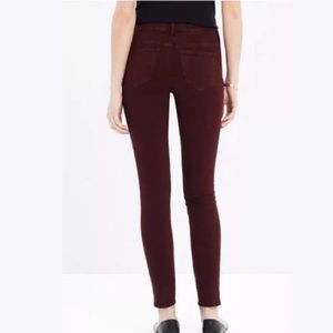 Madewell Burgundy Highwaist skinny jeans (size 24)