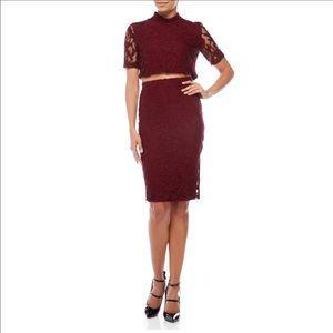Cynthia Steffe Dresses & Skirts - CYNTHIA STEFFE Two-Piece Crop Top & Skirt Set