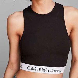 Calvin Klein High Neck Top Black