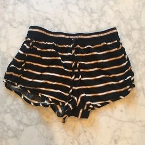 Forever 21 Woven Striped Shorts