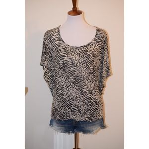 Black and white animal print top