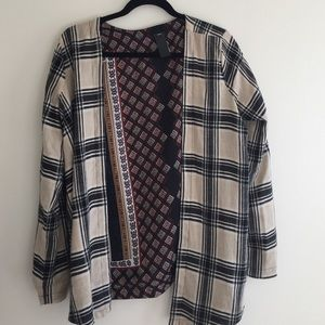 Swell Sweaters - Reversible plaid/paisley cardigan. Size small